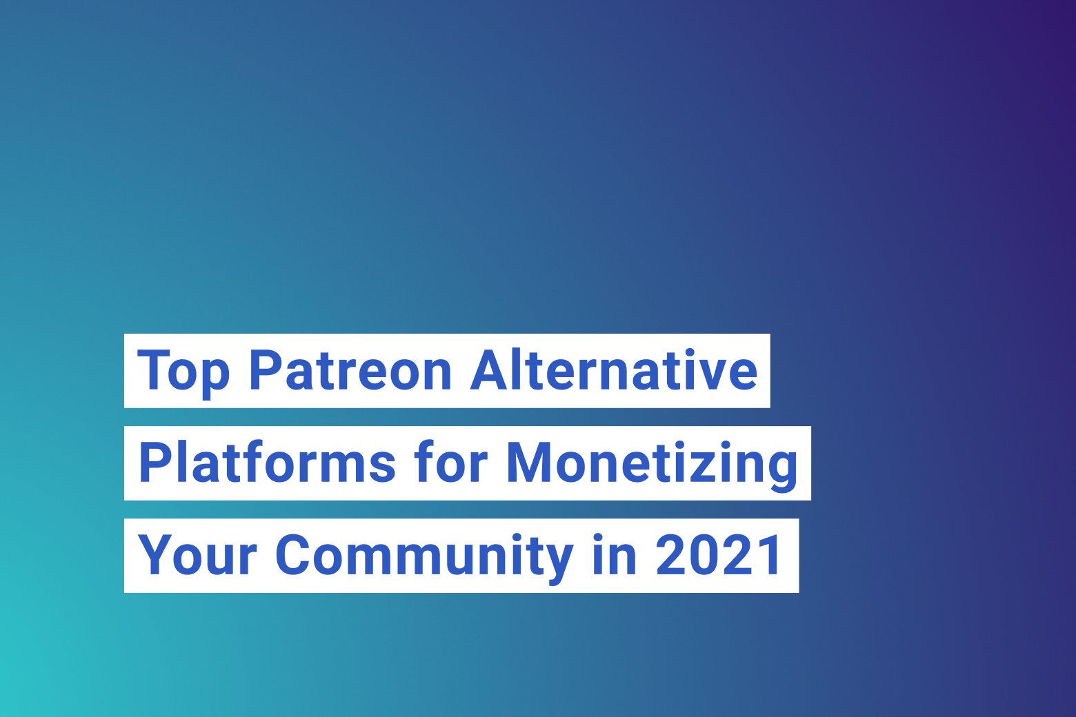 Patreon alternative platforms