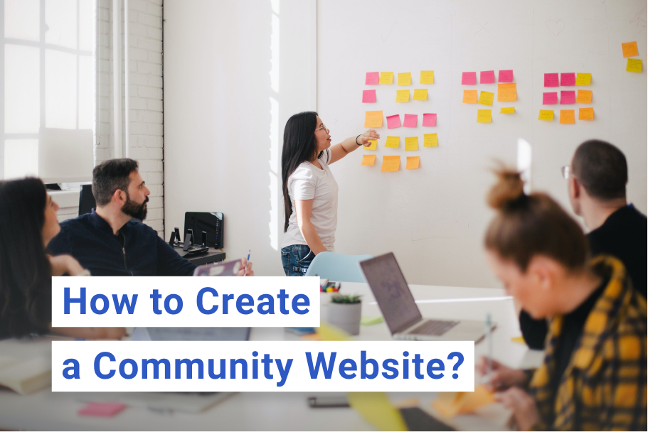 How to create a community website by Scrile Connect